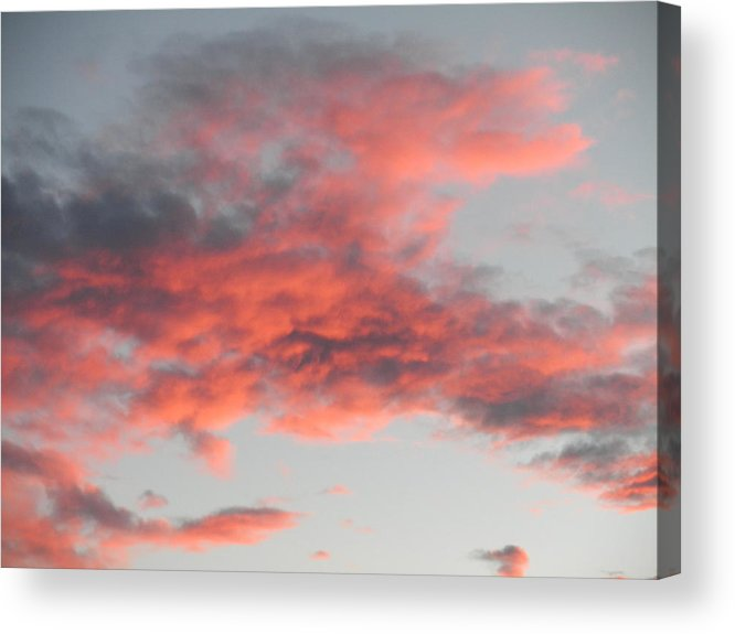 Clouds Acrylic Print featuring the photograph Is He Coming In The Clouds by Jeanette Oberholtzer