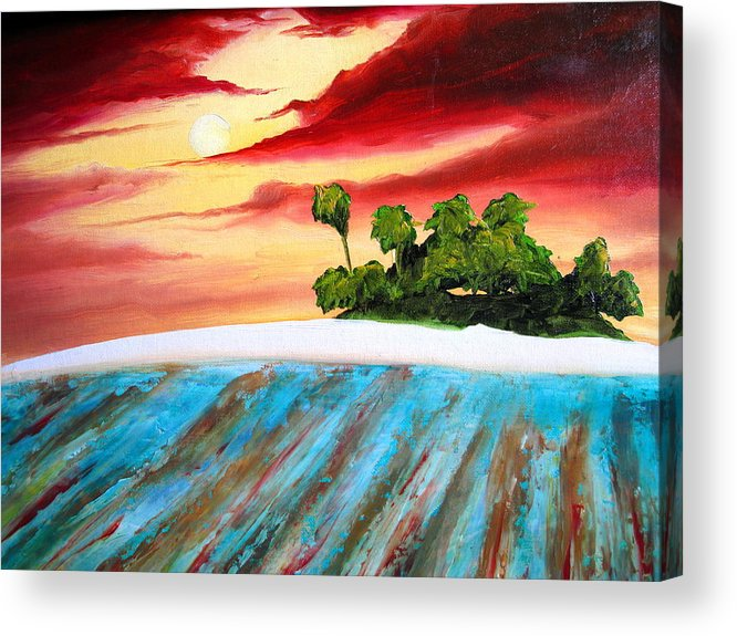 Surf Acrylic Print featuring the painting Island Fever by Ronnie Jackson