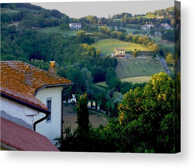Landscape Acrylic Print featuring the photograph Italian Morn by Chuck Shafer