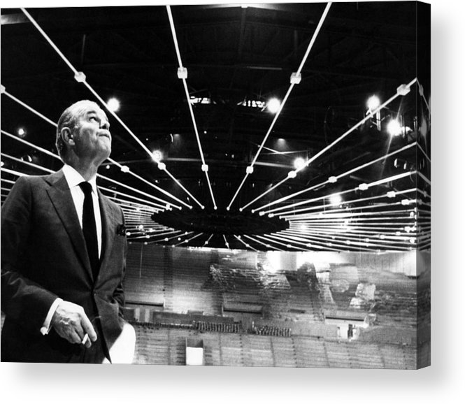 1960s Acrylic Print featuring the photograph Jack Kent Cooke In The Forum Sports by Everett