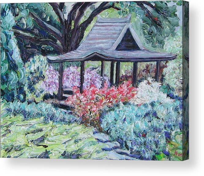 Garden Acrylic Print featuring the painting Japanese Garden by Richard Nowak