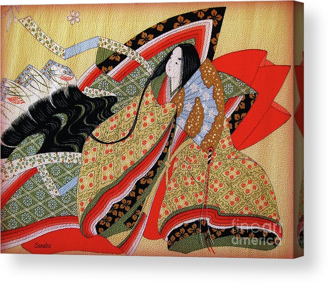 Japanese Art Acrylic Print featuring the photograph Japanese Textile Art by Eena Bo