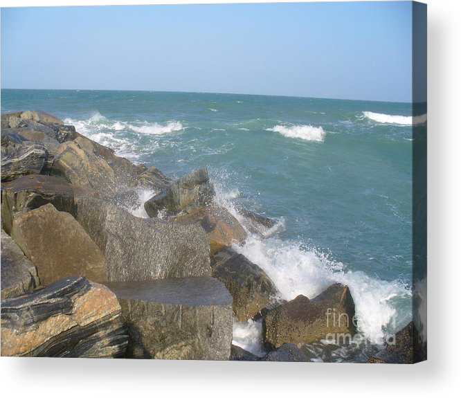 Jetty Acrylic Print featuring the photograph Jetty by Stephanie Richards