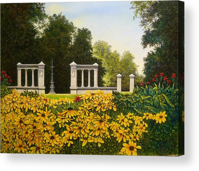 Jewel Box Acrylic Print featuring the painting Jewel Box Gardens by Michael Frank