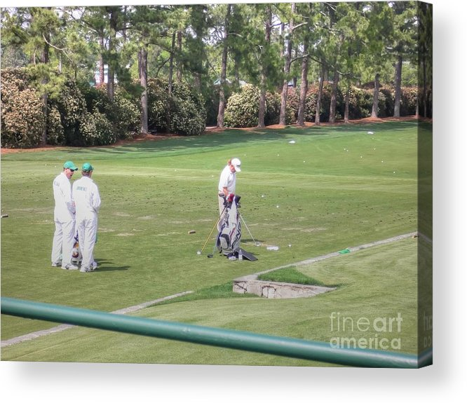 Augusta Georgia Acrylic Print featuring the photograph Jimenez Practicing by David Bearden