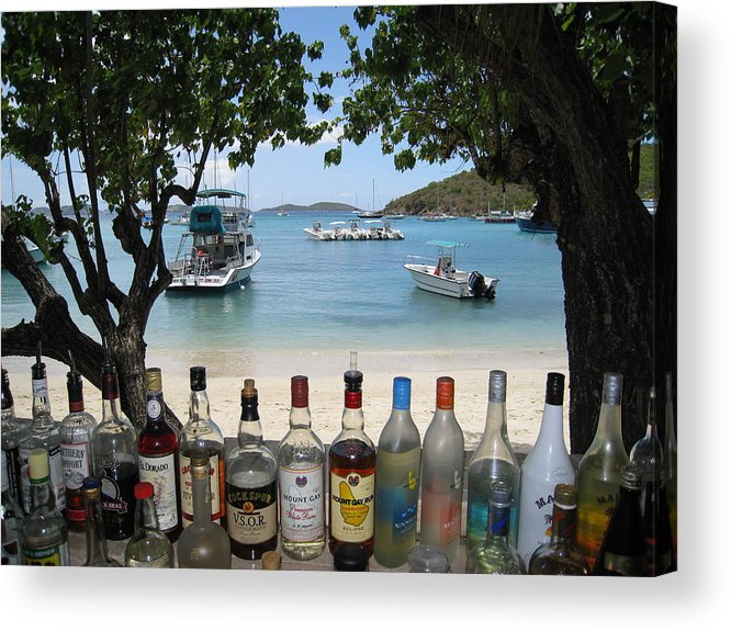 St. John Usvi Acrylic Print featuring the photograph Joe's Rumhut by Ginger Howland