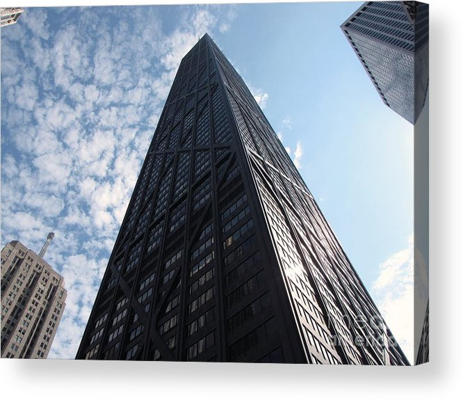 Schuminweb Acrylic Print featuring the photograph John Hancock Center And Surrounding Buildings by Ben Schumin