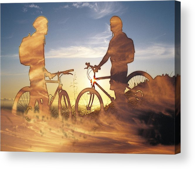 Clouds Acrylic Print featuring the photograph Journeys End by Tim Allen