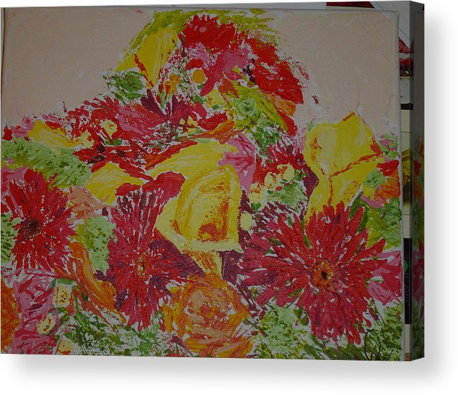 Acrylic Acrylic Print featuring the painting June Bouquet by Raymond Nash