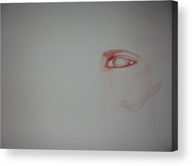 Watercolor Eye Art Acrylic Print featuring the painting Just An Eye by Marian Hebert