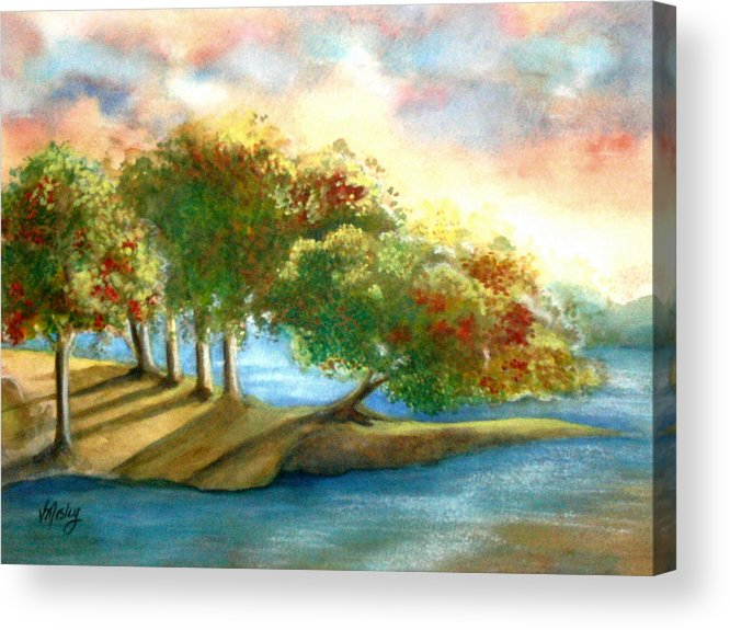 Landscape Acrylic Print featuring the painting Just My Imagination by Vivian Mosley