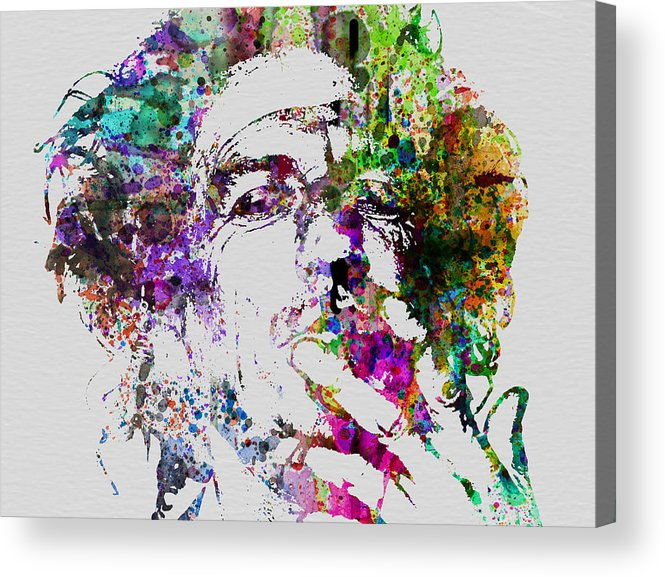 Keith Richards Acrylic Print featuring the painting Keith Richards by Naxart Studio