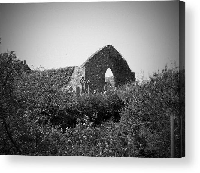 Irish Acrylic Print featuring the photograph Kilmanaheen Church Ruins Ennistymon Ireland by Teresa Mucha