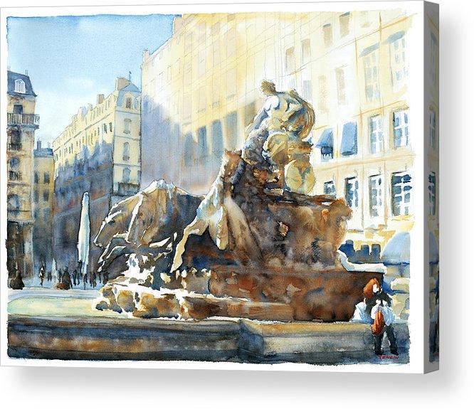 Europ Acrylic Print featuring the painting La Rousse Des Terreaux by Joel Tenzin