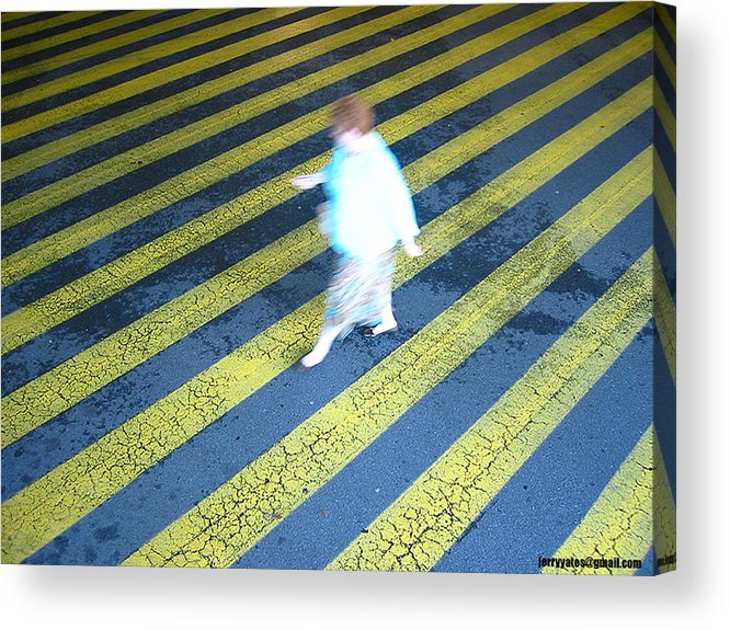 Woman Acrylic Print featuring the photograph Lady Walking by Gerard Yates