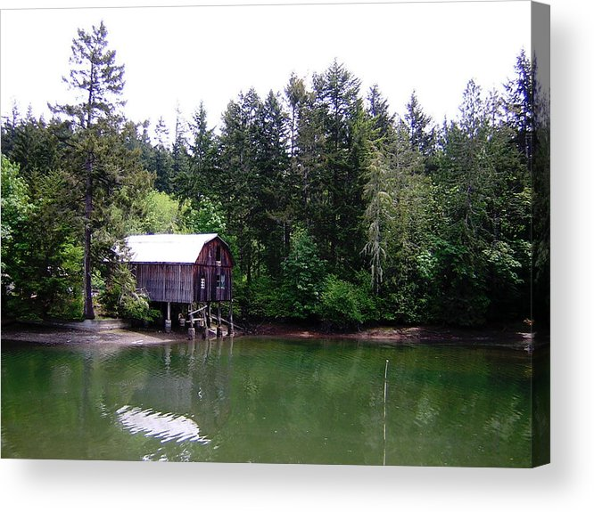 Water Acrylic Print featuring the photograph Lakebay Green Water by Valerie Josi