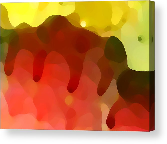 Abstract Acrylic Print featuring the painting Las Tunas Ridge by Amy Vangsgard