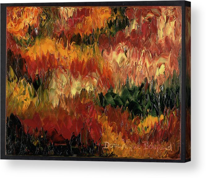 Abstract Acrylic Print featuring the painting Le Feu Et La Vie 1 by Dominique Boutaud