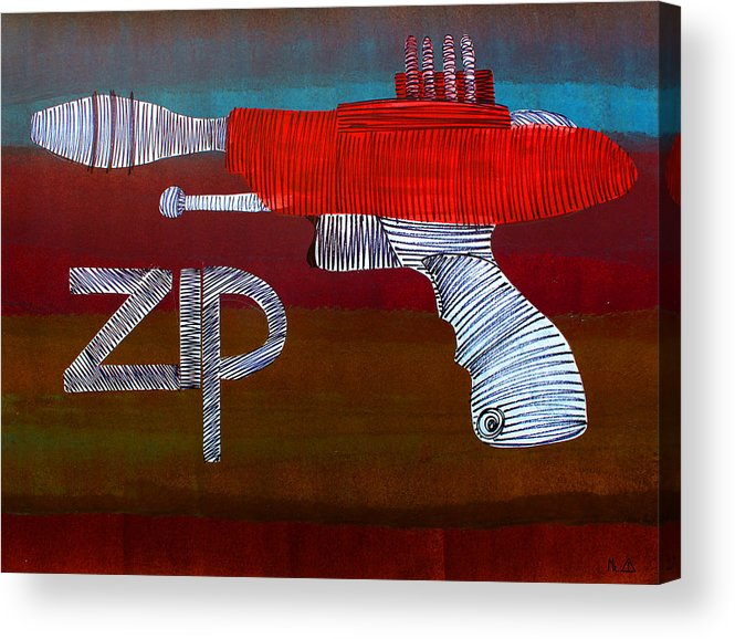 Raygun Acrylic Print featuring the painting Lib-255 by Artist Singh