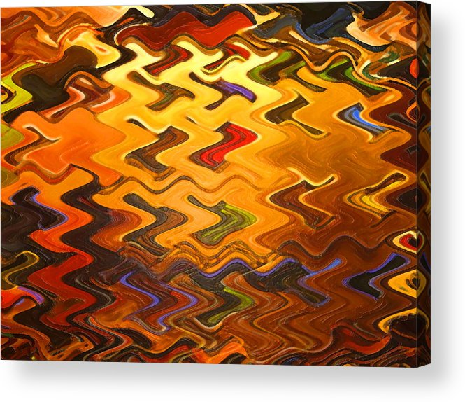 Digital Acrylic Print featuring the painting Light Rising by Vicky Brago-Mitchell