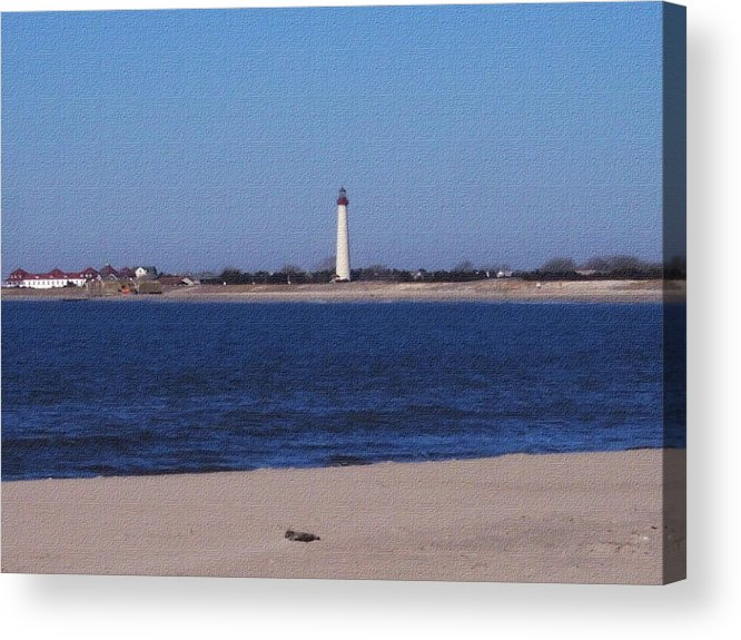 Lighthouse Acrylic Print featuring the photograph Lighthouse At The Point by Pharris Art