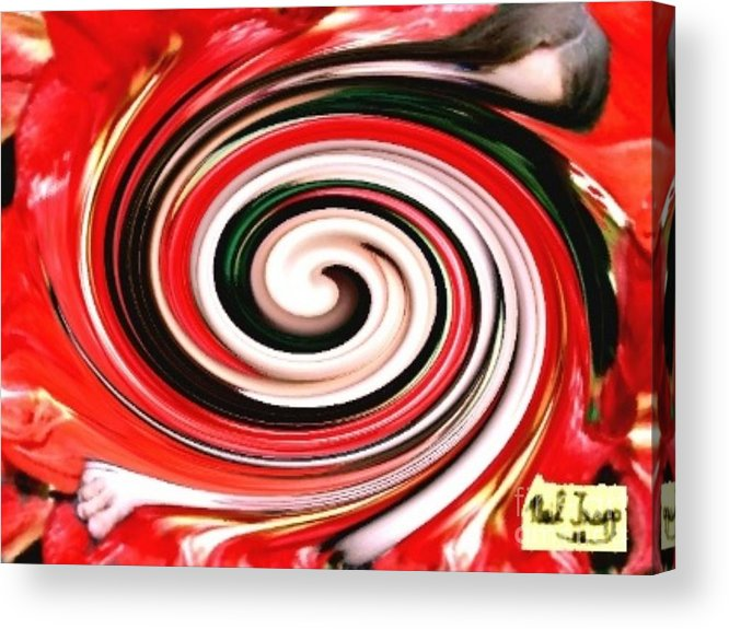 Red Acrylic Print featuring the digital art Lily Of The Field by Neil Trapp