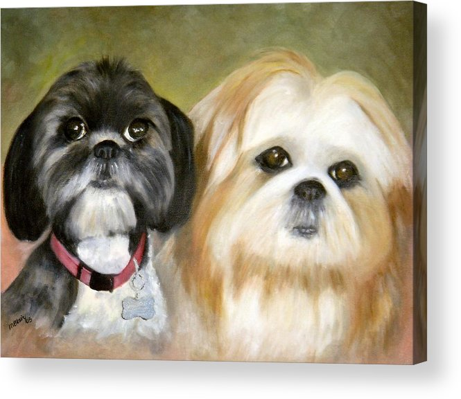 Pets Acrylic Print featuring the painting Little Angels by Merle Blair