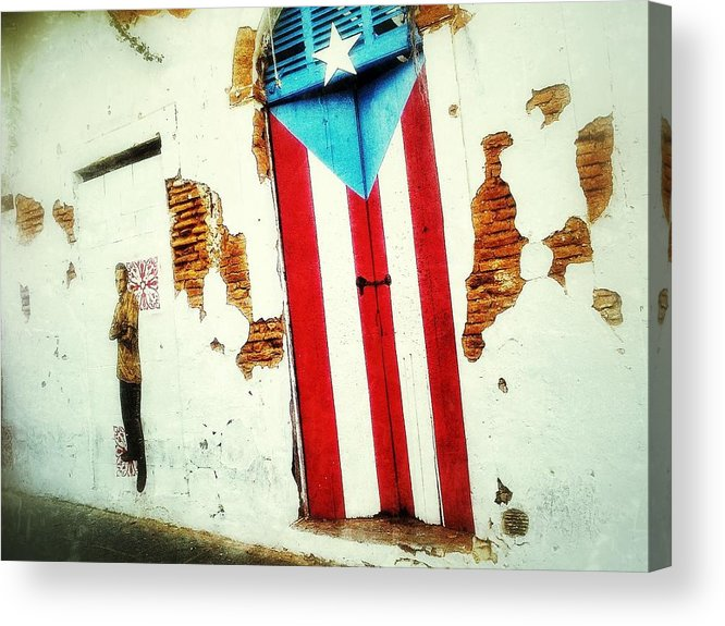 Old San Juan Acrylic Print featuring the digital art Local Colors by Olivier Calas
