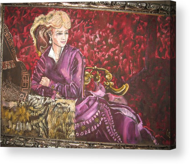 Actress Singer Dancer Old West Acrylic Print featuring the painting Lola Montez by Lila Witt Locati