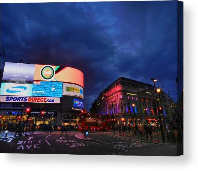 Piccadilly Circus Acrylic Print featuring the photograph London 019 by Lance Vaughn