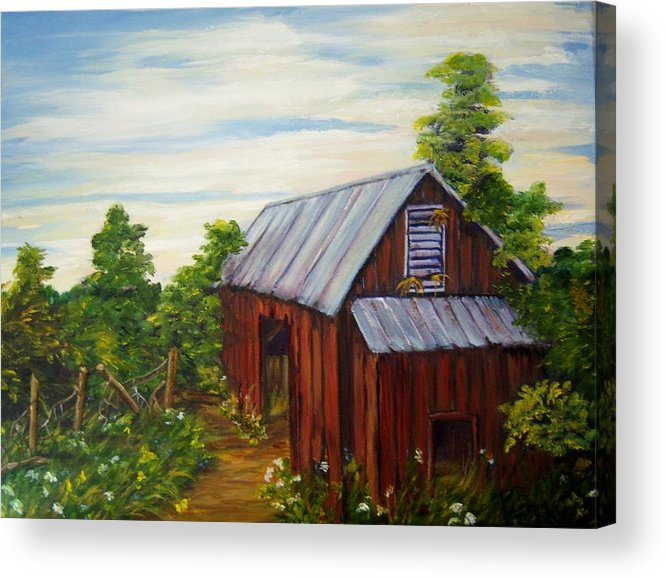 Landscape Acrylic Print featuring the painting Long Forgotten by Patricia R Moore