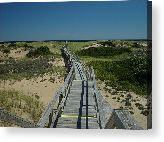 Landscape Acrylic Print featuring the photograph Long Walk by Eric Workman