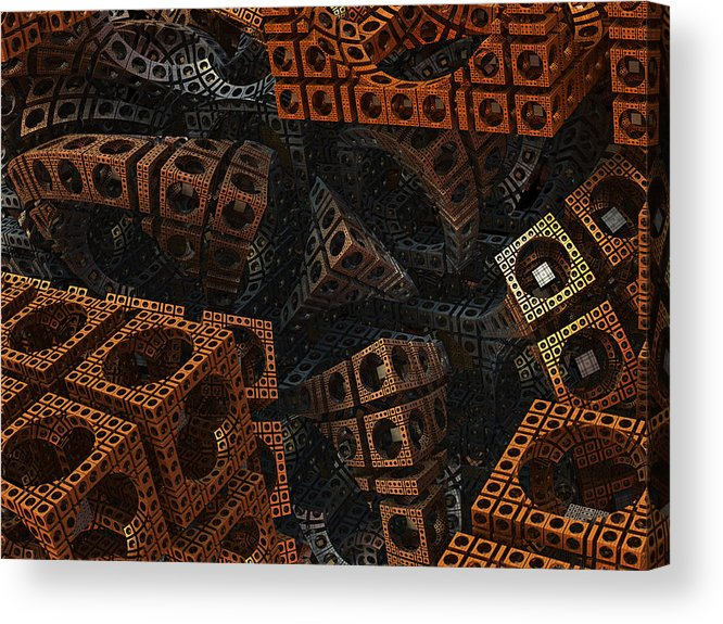 Fractal Acrylic Print featuring the digital art Lost by Archetypus Deed