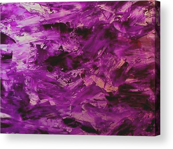 Abstract Acrylic Print featuring the painting Lost Painting by Guillermo Mason