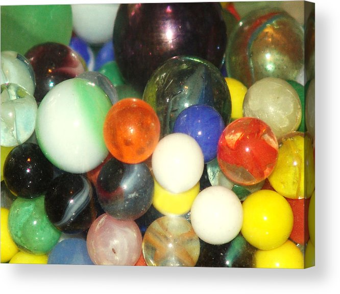 Marbles Acrylic Print featuring the photograph Lost Your Marbles by Kevin Callahan