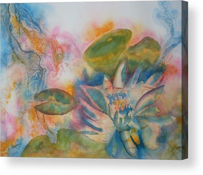 Lotus flower abstract acrylic print by warren thompson lotus flower acrylic print featuring the painting lotus flower abstract by warren thompson mightylinksfo