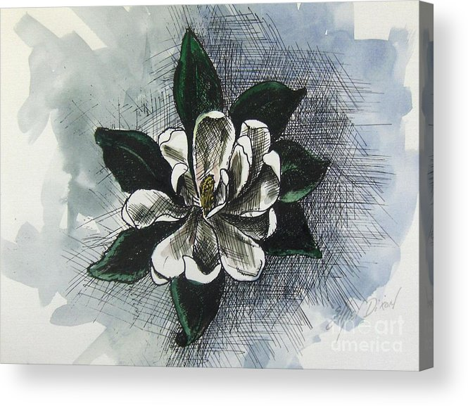 African American Art Acrylic Print featuring the painting Louisiana Magnolia by Ethel Dixon