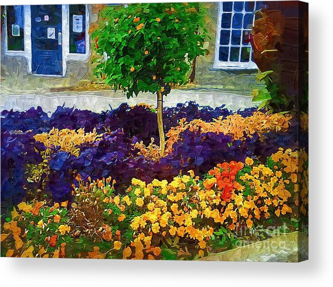 Colorful Flowers Acrylic Print featuring the painting Lovely Colors by Deborah Selib-Haig DMacq