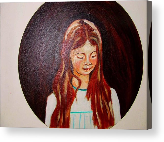 Portraits Acrylic Print featuring the painting Lydia by Rusty Gladdish