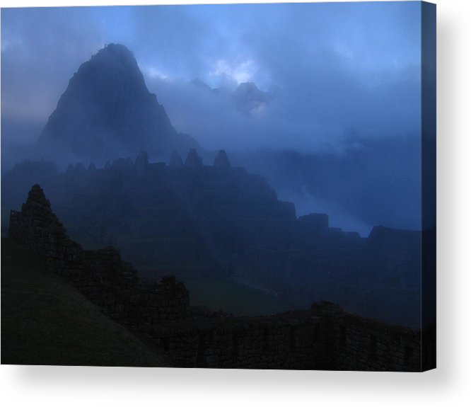 Landscape Acrylic Print featuring the photograph Machu Picchu Dawn by Sam Oppenheim