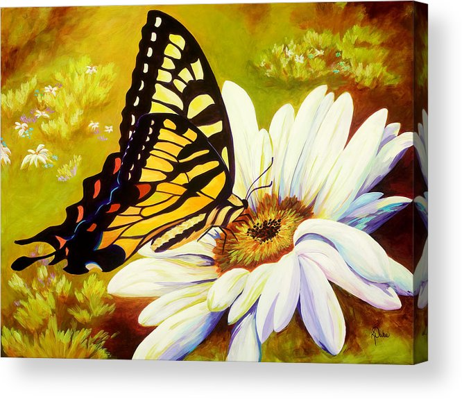 Butterfly Acrylic Print featuring the painting Madame Butterfly by Karen Dukes