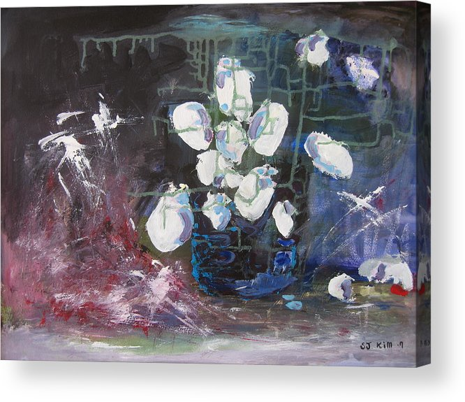 Abstract Paintings Acrylic Print featuring the painting Magnolia by Seon-Jeong Kim