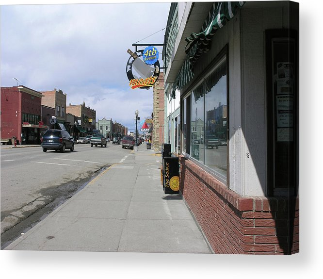Main Street Acrylic Print featuring the photograph Main Street In Red Lodge by Janis Beauchamp