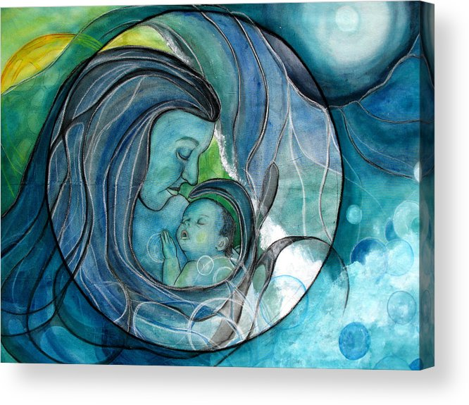 Mom Acrylic Print featuring the painting Makuahine by Kimberly Kirk