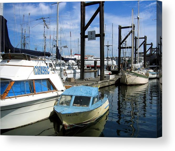 Boat Acrylic Print featuring the photograph Mama Boat ... Baby Boat by Bob Gardner