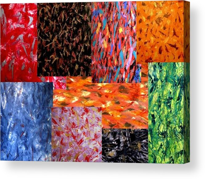 Abstract Acrylic Print featuring the digital art Mason Art by Guillermo Mason