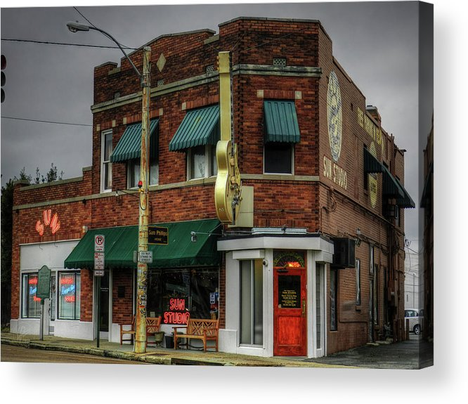 Sun Studio Acrylic Print featuring the photograph Memphis - Sun Studio 003 by Lance Vaughn