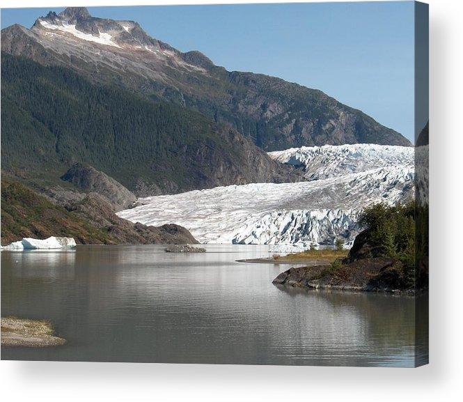 Mendenhall Acrylic Print featuring the photograph Mendenhall Glacier Alaska by Janet Hall