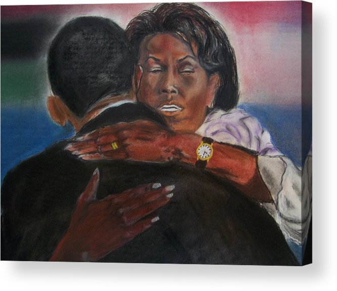 Barack Obama Acrylic Print featuring the painting Michele by Darryl Hines