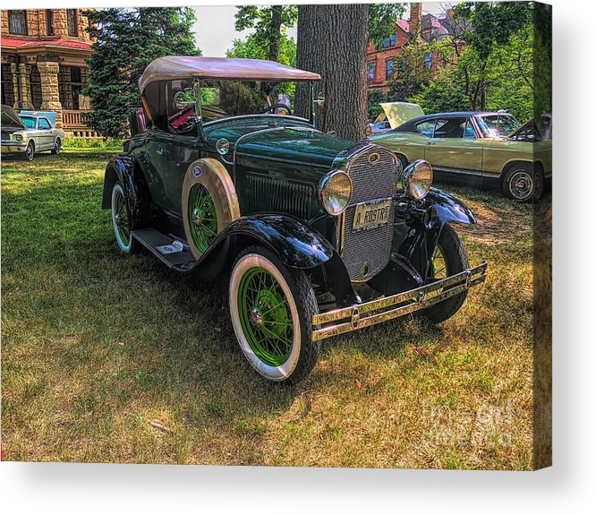 Model A Ford Acrylic Print featuring the photograph 1928 Model A Ford by Luther Fine Art